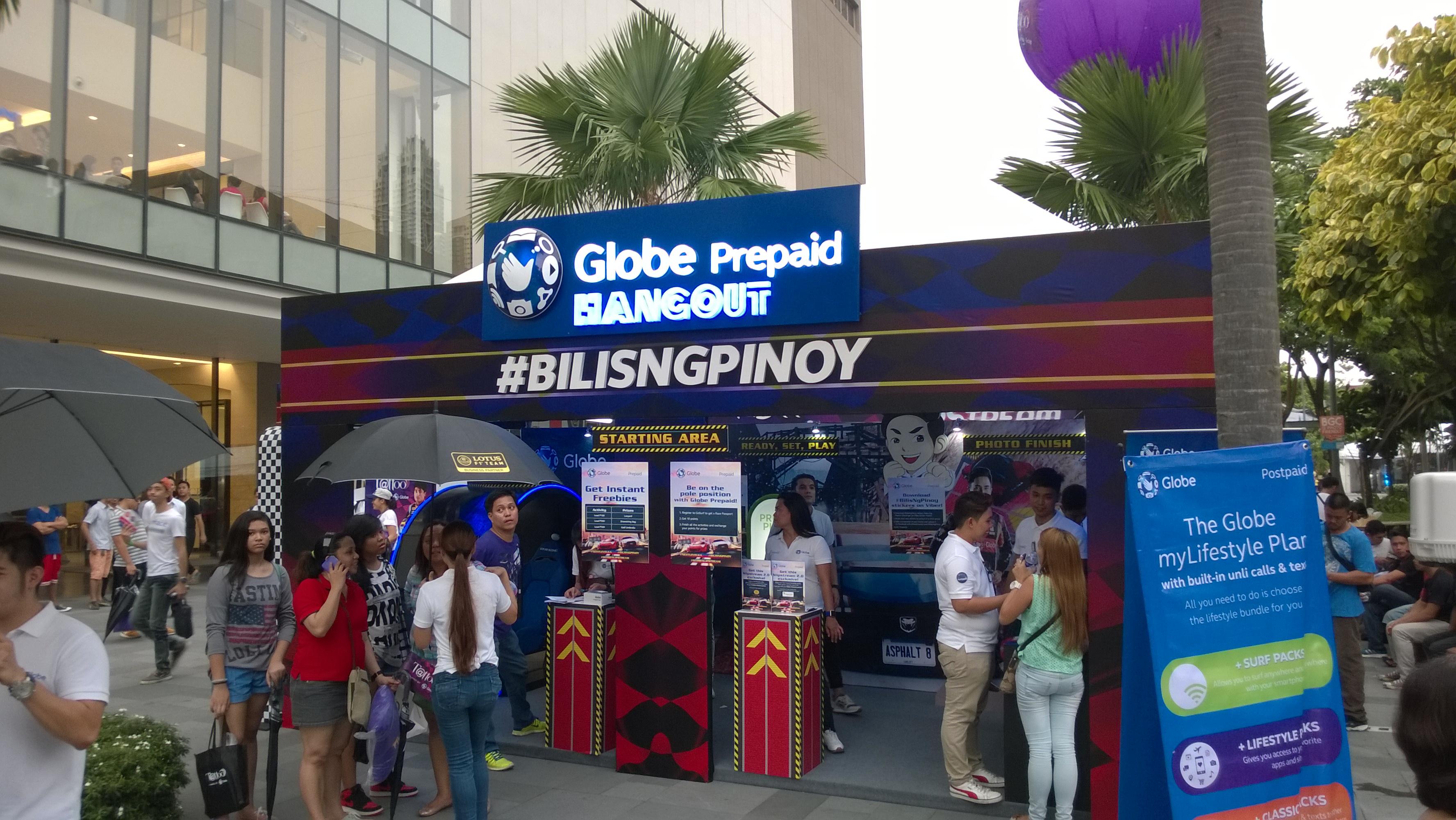 Globe Telecom Slip Stream Marlon Stockinger BGC Taguig Manila Philippines Duane Bacon Bilis Ng Pinoy Booth Prepaid