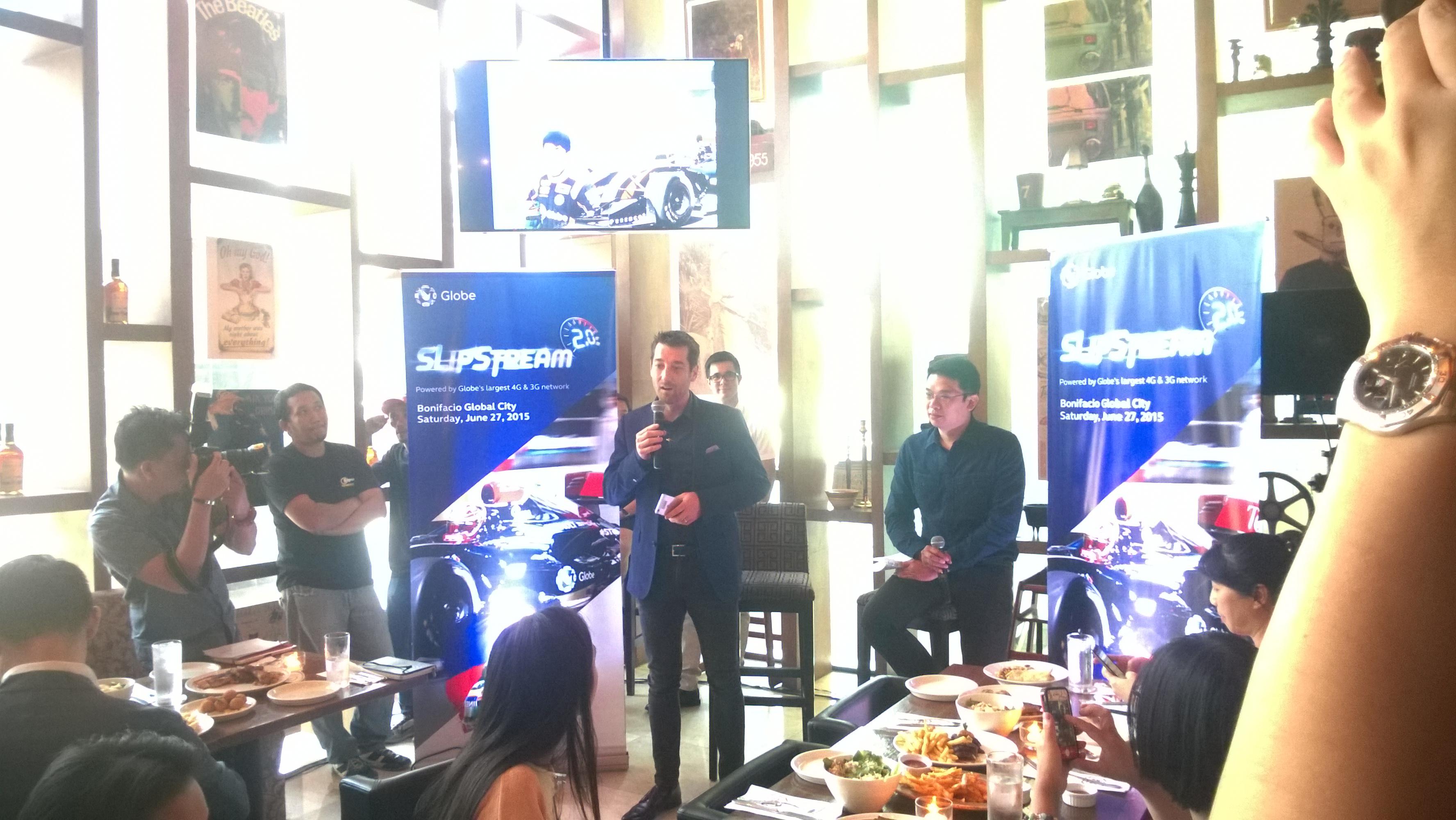 Globe Telecom Slip Stream Marlon Stockinger BGC Taguig Manila Philippines Duane Bacon Dan Horan Marketing Press