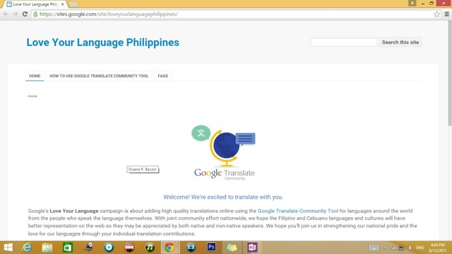 Google Love Language Campaign Translate Translation Pinoy Filipino Philippines Duane Bacon Step1