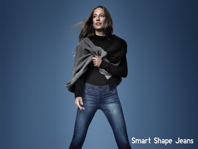 UNIQLO Re Jean Female Girl Lady Office Casual Style Fashion Japan Japanese - SMART SHAPE JEANS